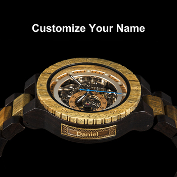 Personalized Customiz Watch Men BOBO BIRD Wood Automatic Watches Relogio Masculino OEM Anniversary Gifts for Him Free Engraving 10