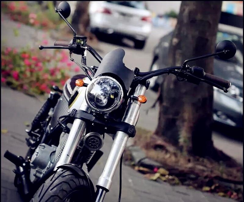 Image 2 - الأسود مقهى المتسابق الرجعية دراجة نارية تعديل القهوة تسلق عالية الجودة مرآة الرؤية الخلفية صغيرة مرآة مستديرة CB400 CB1300إكسسوارات ومرايا جانبية   -