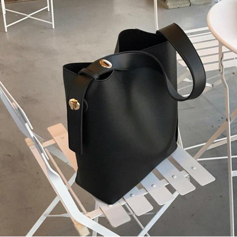 Fashion 2019 Pu Leather Bag Women's Handbags Large Capacity Designer Casual Ladies Tote Female Bucket New Women Shoulder Bags