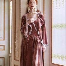 Robe Romantic Women Autumn Winter Sleepwear Nightgown Morning Gown Wedding Robe Set
