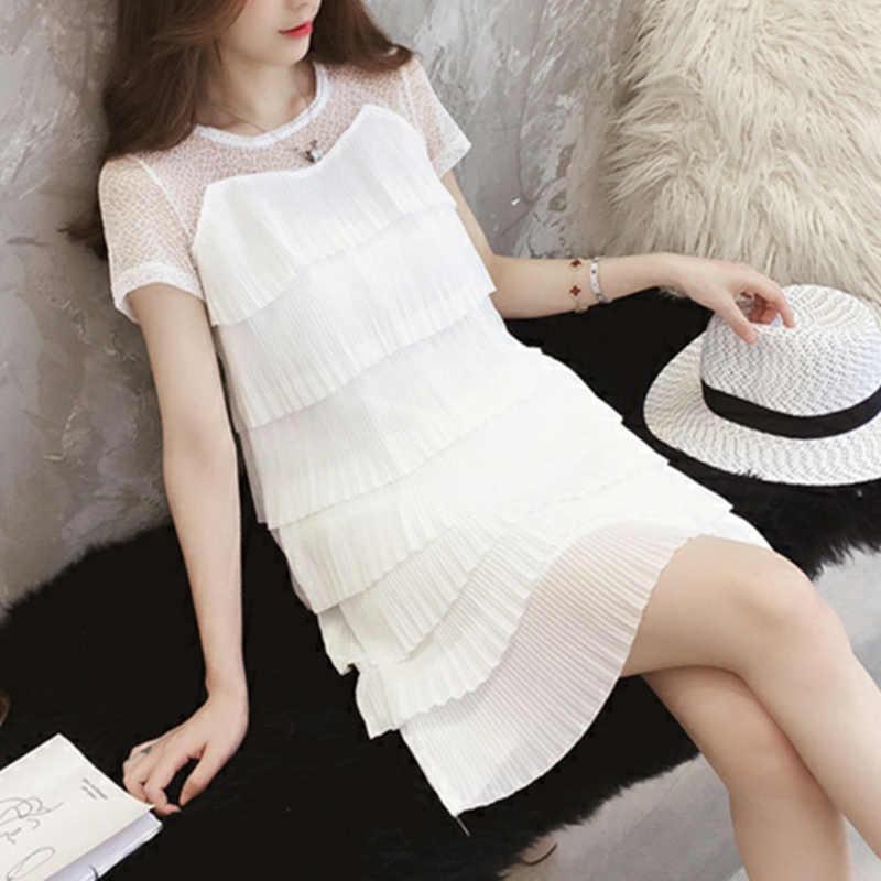 白夏 2020 黒プラスサイズドレスエレガントな女性のためのヴィンテージドレス韓国ミニ vestido デ · フェスタ XYJ7002 kj