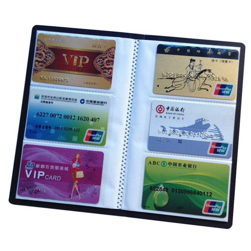 120 Cards Name Card Holder ID Credit Card Bag Men Women PU Leather Business Cards Organizer New Photo Album Carteira Masculina