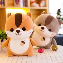 Cute And Warm Squirrel Pillow Sofa Backrest Plush Toys For Children Lovely Gift Soft Doll Cushion Sofa Pillow Gifts Xmas Gift