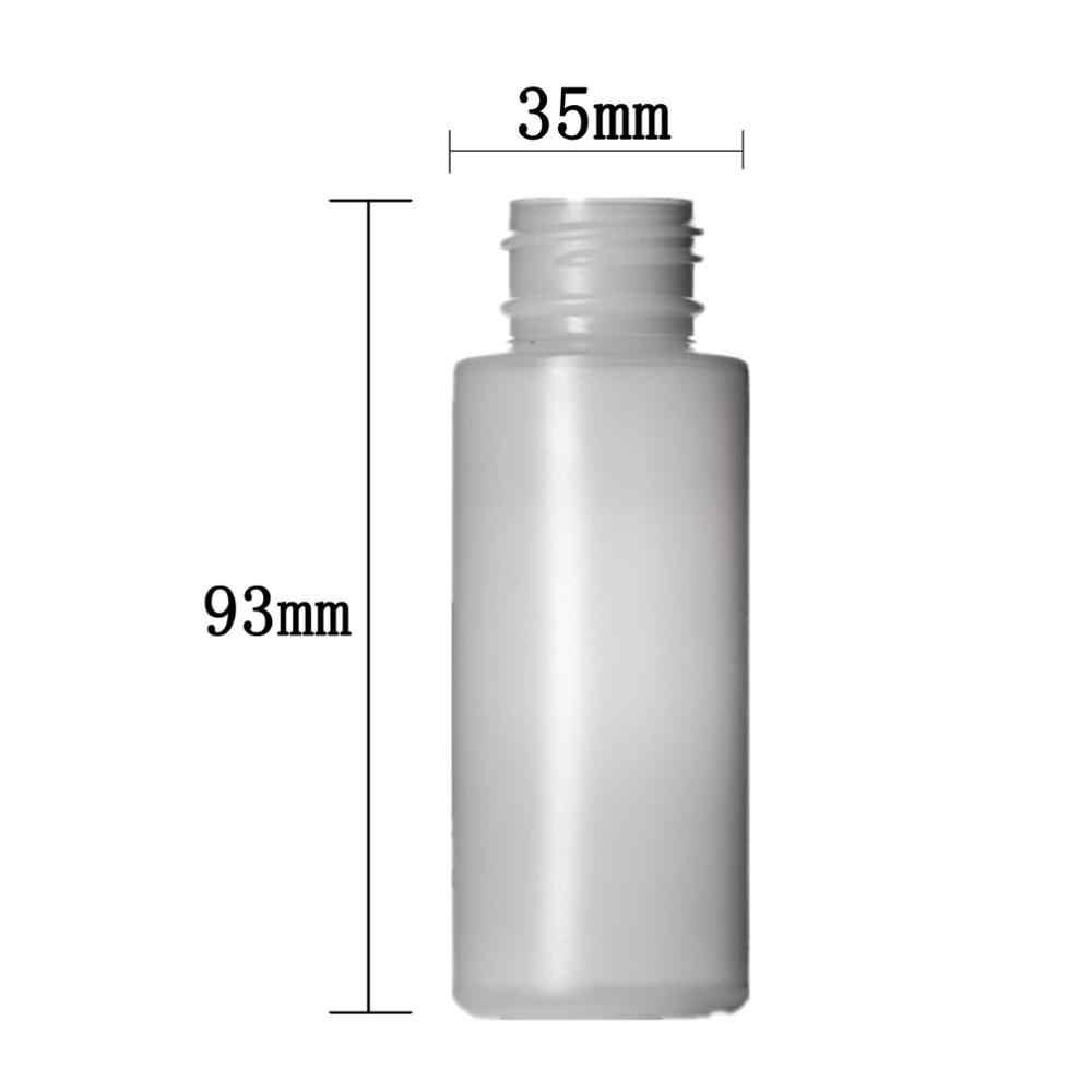 2 oz/60 ml-สี HDPE กระบอกกลมขวดสีดำ/สีขาวเด็ก-ทนหมวก X5
