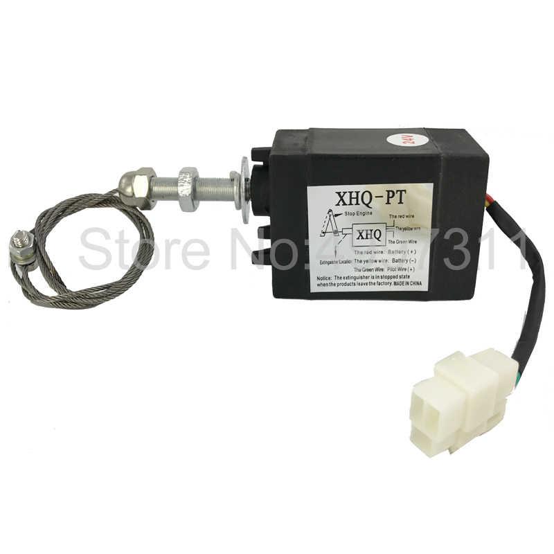 Normaal Open Dc 12 V/24 V Diesel Vlam Uit Apparaat Motor Stop Magneetventiel XHQ-PT Power O -Pt Power Voor Genset Gebruik