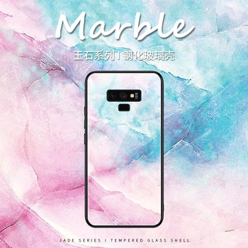Case For Samsung S8 S9 S10 Plus S7 Edge Marble Pattern Tempered Glass Soft TPU Back Cover Phone Cases For Galaxy Note 8 9 10