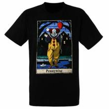 IT Pennywise Tarot Card Clown Stephen King Horror Movie Goth Punk T Shirt 12-76