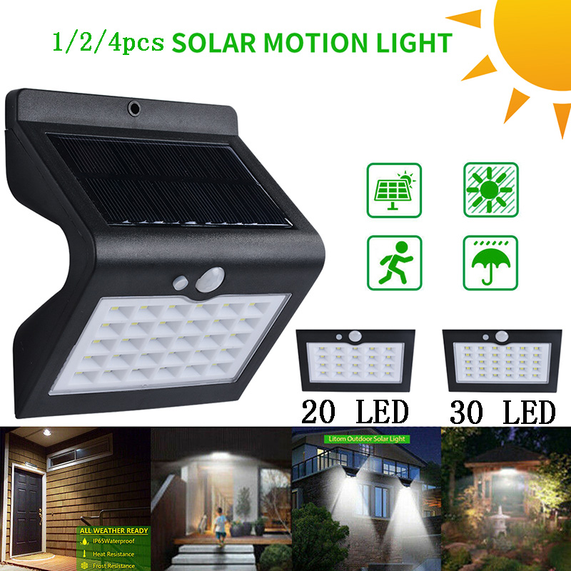20/30 LED Solar Lights Outdoor Motion Sensor 3 Modes Solar Lamps For Garden Waterproof Outdoor Lighting Energy Saving Light