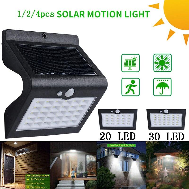 20/30 LED Solar Lights Outdoor Motion Sensor 3 Modes Solar Lamps For Garden Waterproof Outdoor Lighting Energy Saving Light