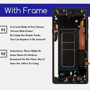 Image 2 - מקורי סופר AMOLED 6.4 תצוגה + מסגרת לסמסונג גלקסי הערה 9 Note9 N960D N960F LCD מסך מגע Digitizer חלקי תיקון