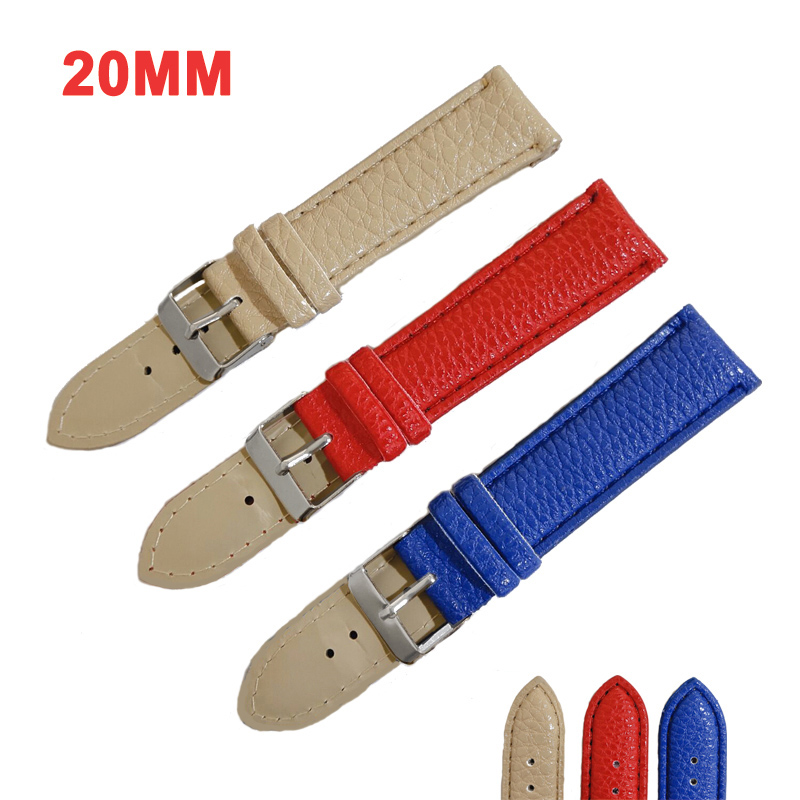 DOM Women Replacement Watch Strap Belt Waterproof Leather Strap Watch Band  20mm Watch Accessories Wristband High Quality