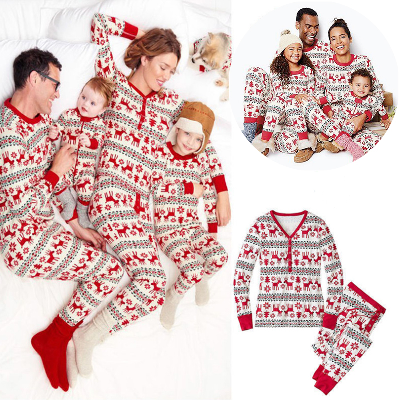2019 New Family Matching Pajamas Christmas Family Clothing Set Tees Kids Baby Girl Boys Father Mother Chrismas Sleeping Wear