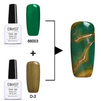 Elite99-Conjunto de Gel UV para manicura, barniz de uñas semipermanente, efecto mármol, 2 unidades por lote, 10ml