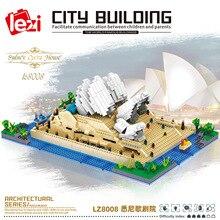 LEZI LZ8008 Miniature Diamond Small Particle Model Series Sydney Opera House Modular Building Blocks Bricks Children's Toy Gift
