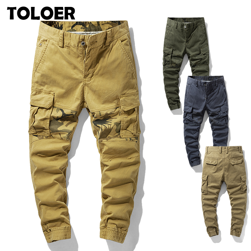 Men''s Cargo Pants Overalls Army Clothing Tactical Pants Male Fashion Military Work Multi Pocket Men Straight Joggers Trousers