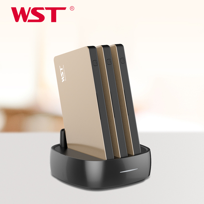 WST Portable Charger Station For Family Public Business 3PCS 8000mAh Power Bank With Built In Charging Cables Power Bank Station