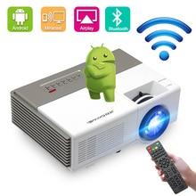 CAIWEI miniproyector A3/A3AB con Android, 1280x720P, compatible con 1080p, cine, compatible con WiFi, Bluetooth, para películas al aire libre