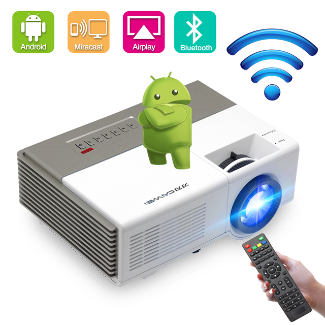 Caiwei A3/A3AB Mini Android Projector 1280*720P Ondersteuning 1080P Cinema Proyector Beamer Ondersteuning Wifi Bluetooth voor Outdoor Films
