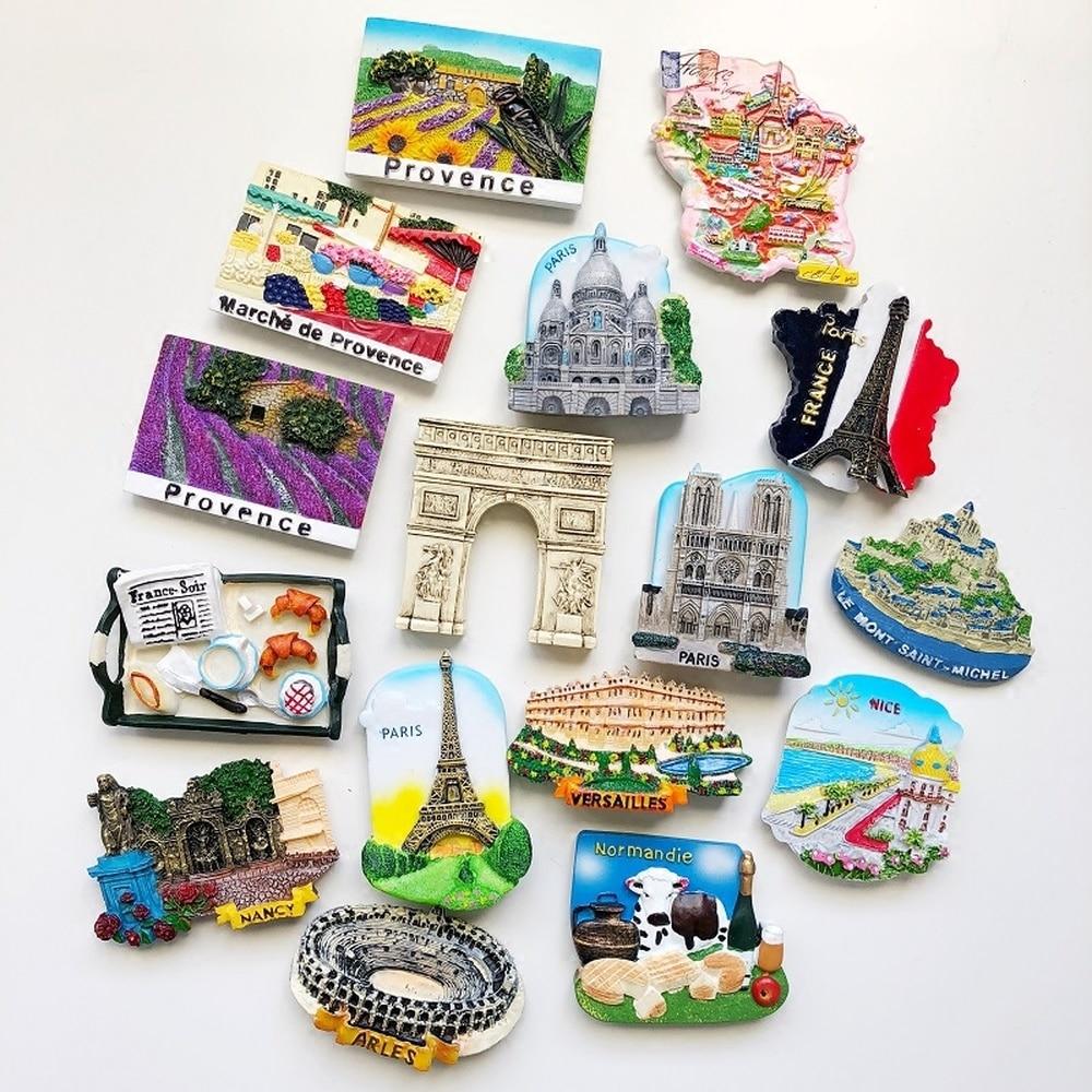 BABELEMI 1PCS France Monaco Fridge Magnet 3D Paris Provence Nice Monte Carlo New York Refrigerator Magnet Travel Souvenir Decor