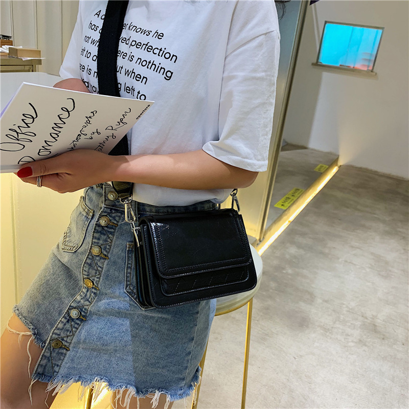 New-style retro small-bag women 2019 new summer 100-net red small black-bag broadband