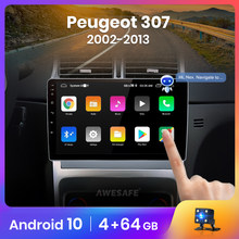 AWESAFE PX9 para Peugeot 307, 2002-2013 auto Radio Multimedia reproductor de video GPS No 2 din Android 10,0 2GB + 32GB