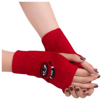 Rekawiczki Zimowe Lady rękawiczki bez palców kobiety mężczyźni dzianiny pół palca komputerowe rękawiczki ciepłe rękawiczki Gants De Femmes tanie i dobre opinie Dla dorosłych CN (pochodzenie) Unisex Knit Stałe Nadgarstek Moda women s gloves winter gloves women handschoenen fingerless gloves women