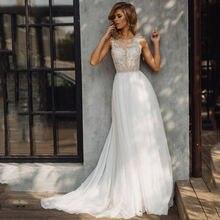 Eightree пляж Бохо свадебное платье 2020 с аппликациями и открытой