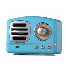 Alto falante portátil bluetooth mini retro alto falante sem fio alto falantes rádio usb/tf cartão leitor de música alta fidelidade subwoofer bluetooth 4.1