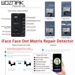 I2c face dot matrix projeção reparação detector para iphone X-11Pro max face id ferramenta de reparo substituir o cabo matriz ponto iface v8