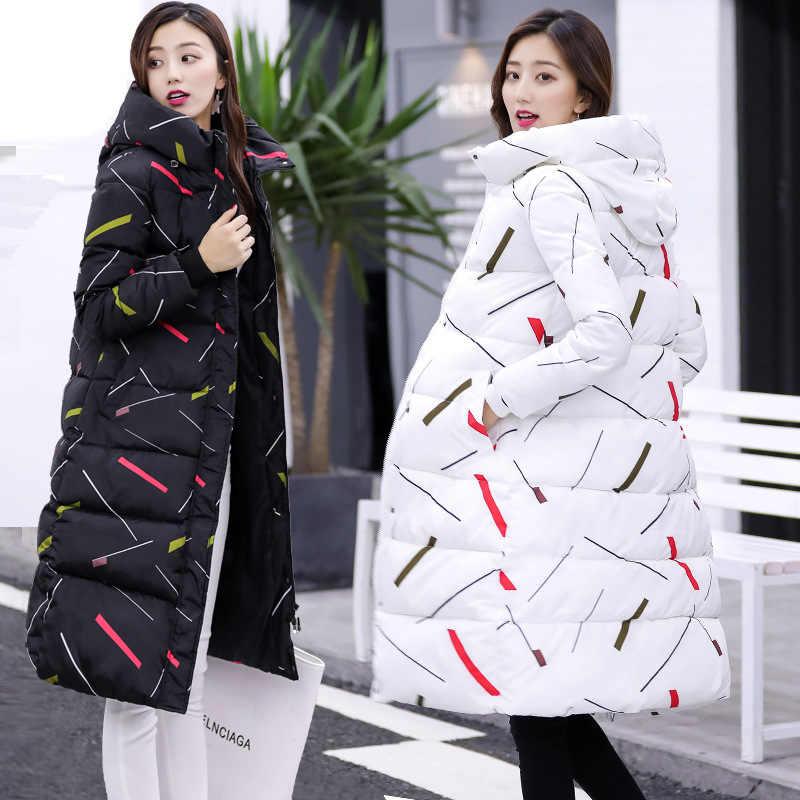 ロングダウンパーカースリムプリント女性の冬のジャケットコート暖かい秋のジャケット女性の CRRIFLZ 2019 新秋冬コレクション