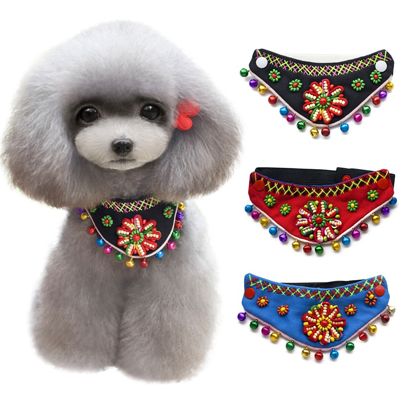 Chinese Style Dog Scarf Pet National Scarf Pet Collar Dog Grooming Accessories