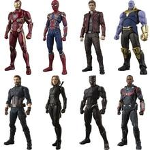 Avengers Unendlichkeit Krieg Eisen Spinne Dr Seltsame Star Herr Kapitän Amerikanischen Thanos SHF Spielzeug Action Figur Modell