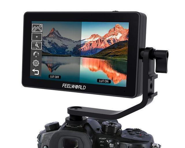 Монитор FEELWORLD F6 PLUS 4K, 5,5 дюйма, для камеры, цифровой зеркальной камеры, 3D, LUT, сенсорный экран IPS FHD 1920x1080, поддержка видеофокуса, поддержка HDMI