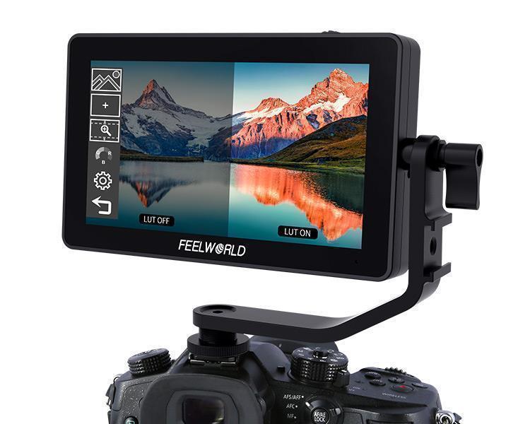 FEELWORLD F6 PLUS Monitor 4K de 5,5 pulgadas cámara DSLR campo 3D LUT pantalla táctil IPS FHD 1920x1080 ayuda de enfoque soporte HDMI
