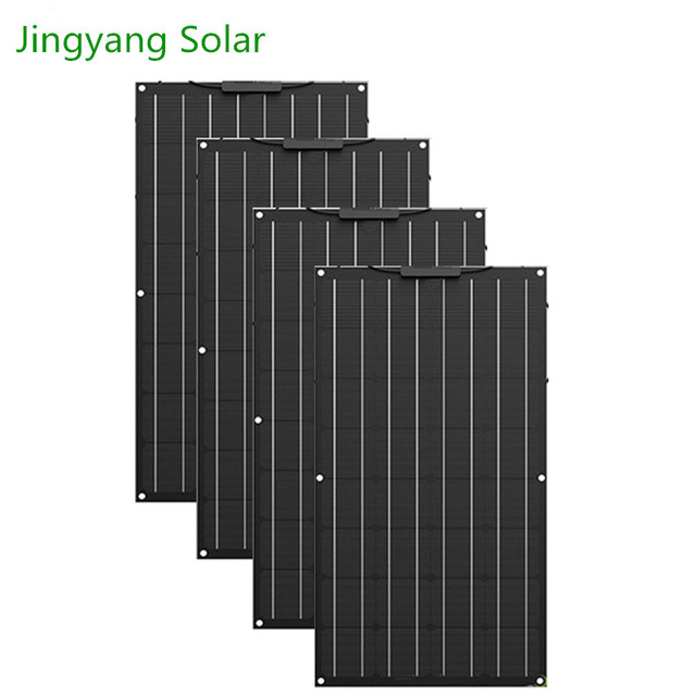 400W Etfe Flexible Solar Panel 4PCS of 100W Panel Solar Monocrystalline Solar Cell For 12v/24v Solar Battery Charge 200W 300W