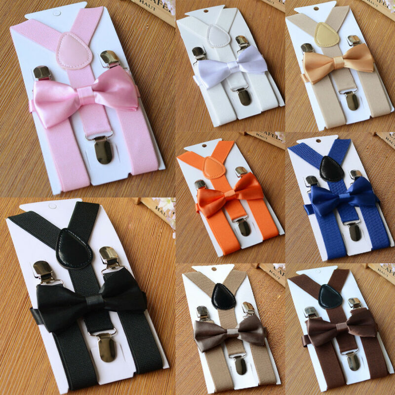2019 Brand New Style Suspenders Baby Boy Adjustable Kid Girl Elastic Braces Bow Tie Clip-on Children Hot Sale