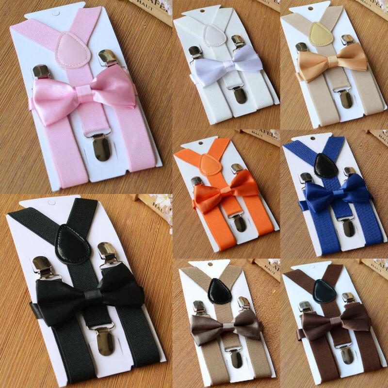 2019 Brand New Style Suspenders Baby Boy Adjustable Kid Girl Elastic Braces Bow Tie Clip-on Children Hot Sale