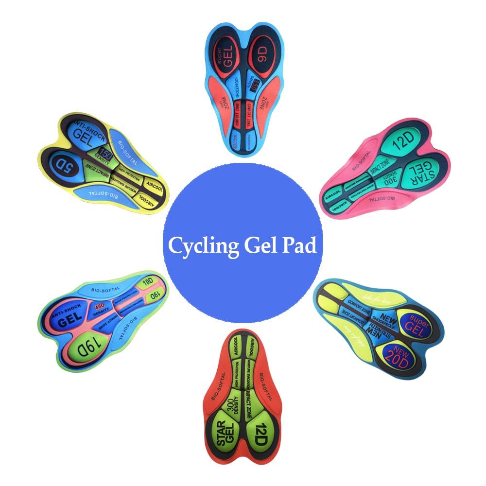 Men Women Cycling Shorts Cushion 5D 9D 12D 19D 20D Gel Pad Breathable Bicycle Short Pads Bike Clothing Cushion MTB Cushions