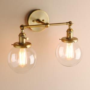 Image 4 - Permotriassischen Moderne Schlafzimmer Wand Leuchtet Treppen Wand Lampe Leuchte 5.9 Globus Glas Doppel Ball Köpfe Vintage Innen Leuchten