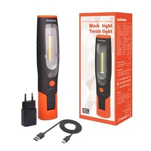 Image 1 - Oplaadbare Led Verlichting Draadloze Draagbare Led Inspectie Lamp Dual Haken Led Zaklamp Licht Met Eu Plug Opvouwbare Magnetische