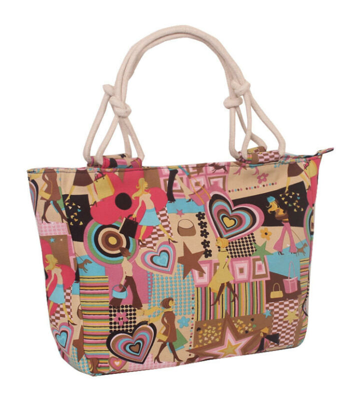 New <font><b>Folding</b></font> Pouch <font><b>Shopping</b></font> <font><b>Bag</b></font> Vintage Floral Print <font><b>Magic</b></font> style Nylon Large Tote ECO Reusable Canvas Portable Classic Handbag image