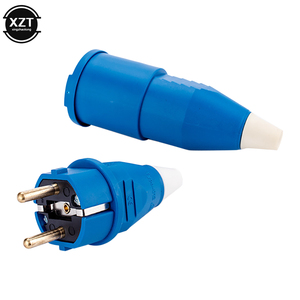 EU Russian Waterproof IP54 2 pin Male Female electronic Connector Schuko Rewireable Detachable Socket Adapter Extender Cord 16A(China)