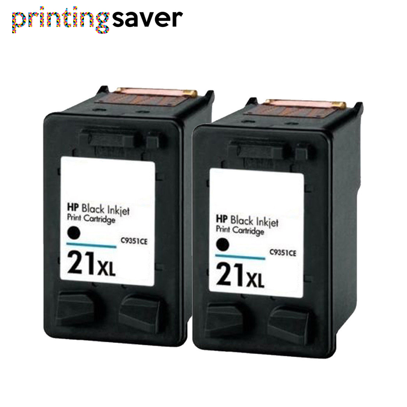 2BK Black ink cartridge replacement for hp deskjet f380 21 22 For HP21 21xl Deskjet F200 F380 F2180 F2280 F4180 F2200 F300 D1500