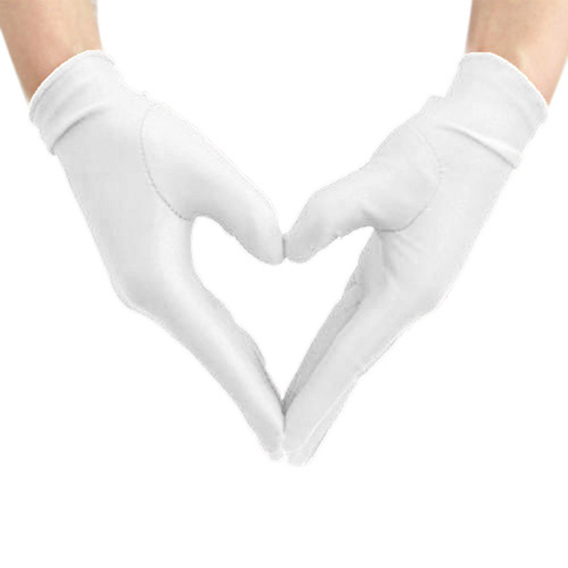 Bride Wedding Wrist Short Gloves Womens Club Party Night Satin Gloves Driving Stretch Ladies Housework Cleaning Gloves