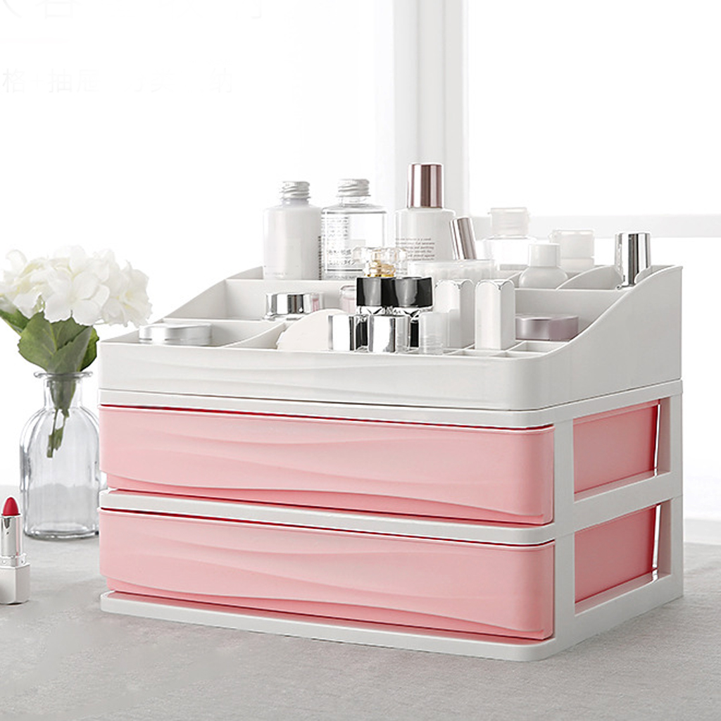 Plastic Cosmetic Drawer Makeup Organizer Makeup Storage Box Container Nail Casket Holder Desktop Sundry Storage Case Box