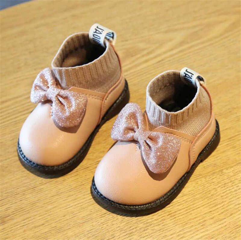 Weoneit ทารกเด็กวัยหัดเดินรองเท้าฤดูใบไม้ร่วงฤดูหนาว 0-3Y เด็กหนังรองเท้าเด็กวัยหัดเดินรองเท้าสีดำสีชมพู Beige รองเท้า