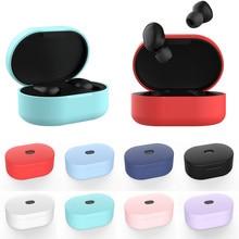 New Silicone Earphone Case for Xiaomi MI Redmi AirDots headphones Protective Cover TWS Bluetooth Earphone Wireless Headset Case