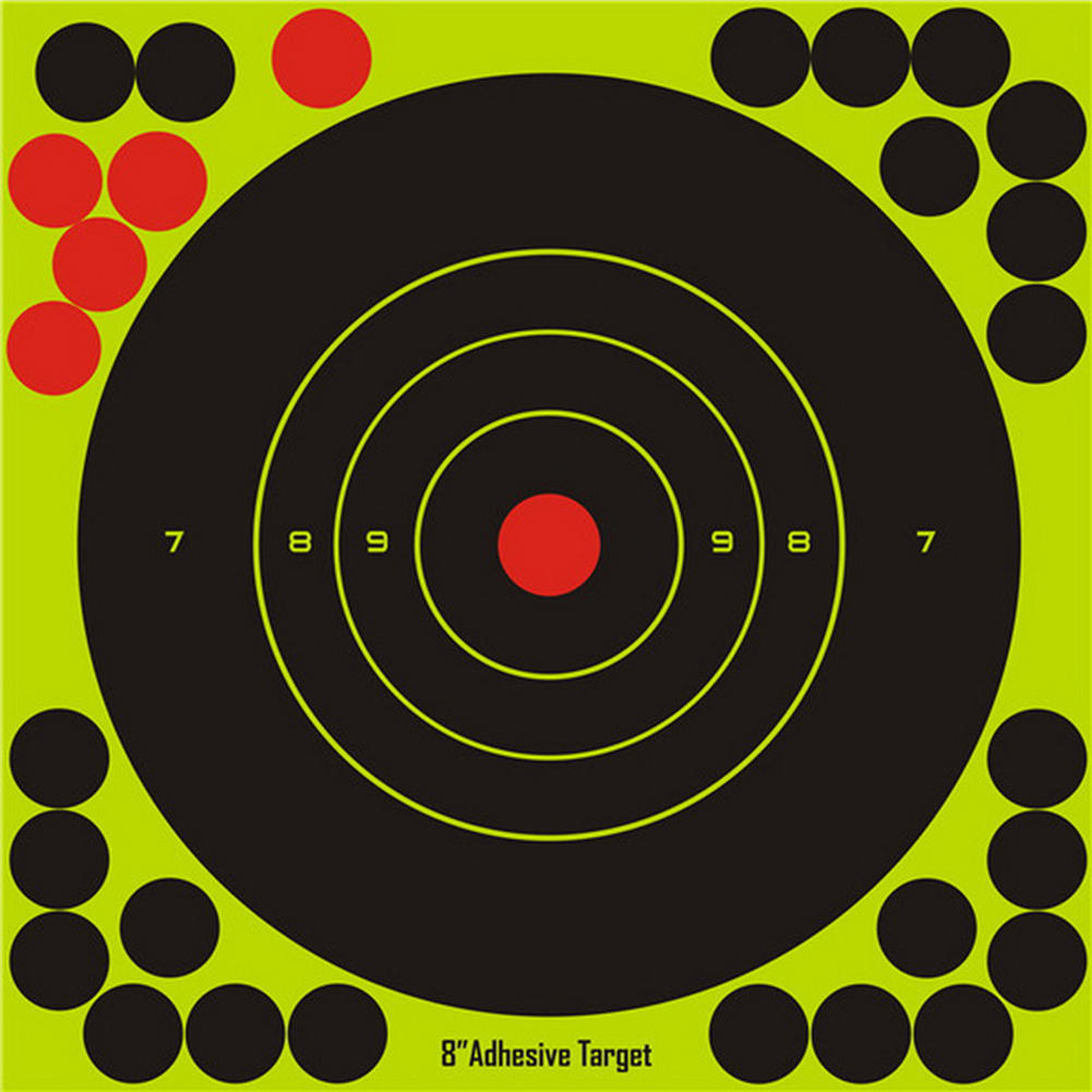 10pcs 20cm Paper Target Stickers Adhesive Reactivity Shoot Targets Outdoor Shooting Practice Hunting Training