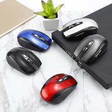 Mouse Wireless 1600DPI for Laptop Notebook Computer Desktop USB Battery-Powered 6-Keys