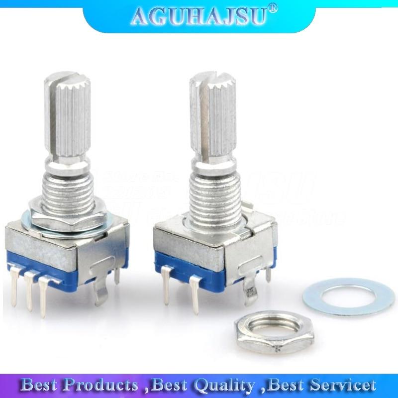 2 pièces prune poignée 20mm codeur rotatif commutateur de codage/EC11/potentiomètre numérique avec interrupteur 5 broches Q